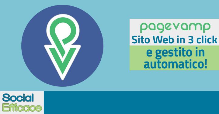Pagevamp - crea sito web usando Pagina Facebook