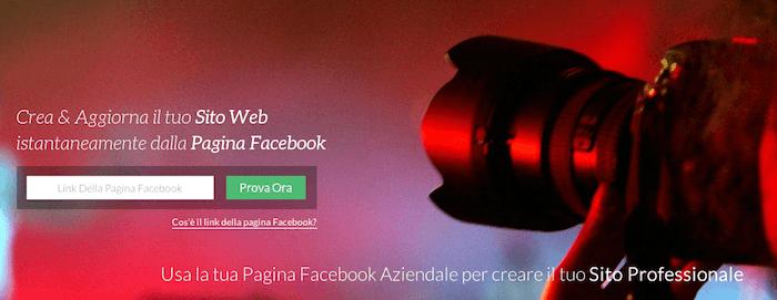 Pagevamp - schermata home sito web