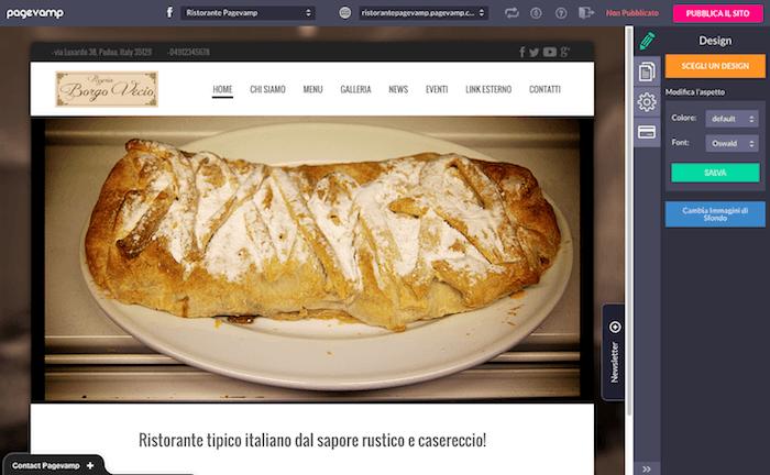Pagevamp - schermata impostazioni sito web 01