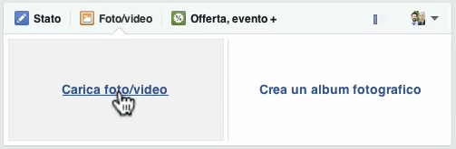 caricare video Facebook scegliere file