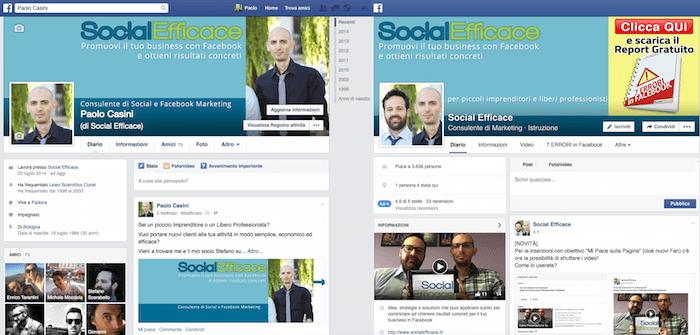 profilo personale vs pagina facebook